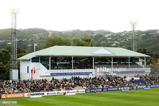 A general view of Hutt Recreation Ground during the round 17 ALeague match between Wellington Phoenix and Melbourne City FC at the Hutt Recreation...