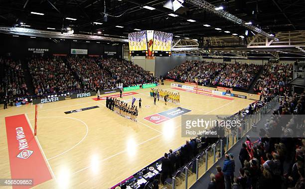 General view of ILT Stadium during the International netball Test match between the New Zealand Silver Ferns and the Australian Diamonds at ILT...