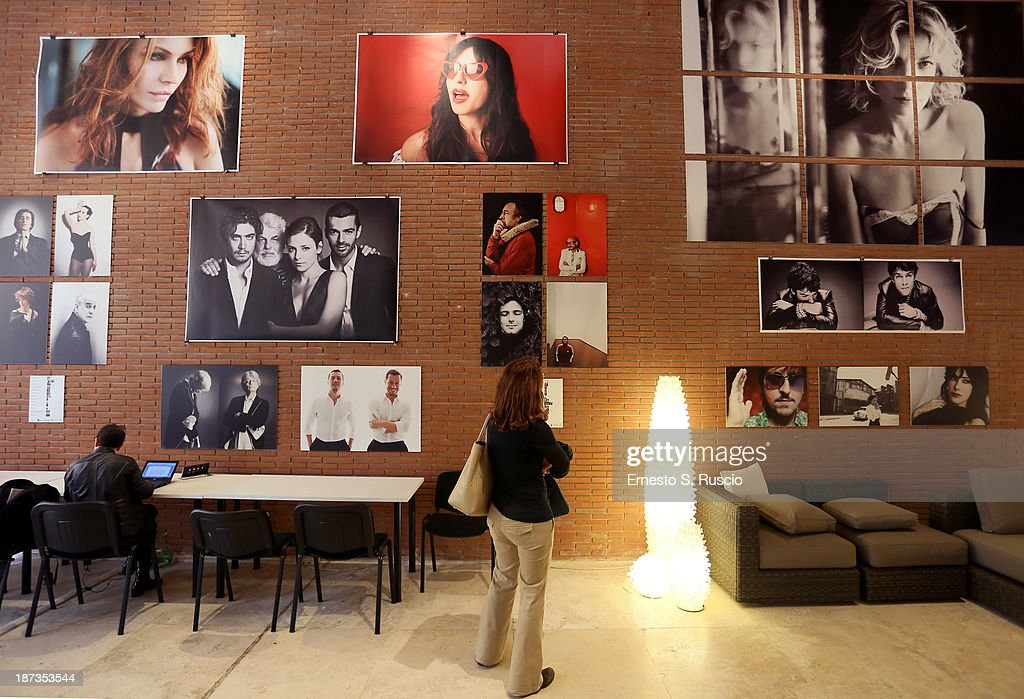 A general view of images from the Fabio Lovino Exhibition Opening during the 8th Rome Film Festival at the Auditorium Parco Della Musica on November 8, 2013 in Rome, Italy.