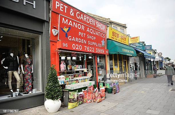 A general view of independant shops on Clapham High Street on September 24 2013 in London England The Labour leader Ed Miliband in his party...