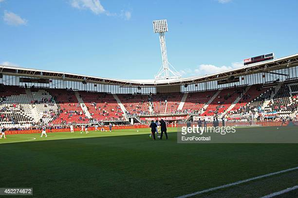 A general view of inside the Afas Stadium before the Eredivisie Dutch league match between AZ Alkmaar and Feyenoord on May 52014 at the Afas Stadium...