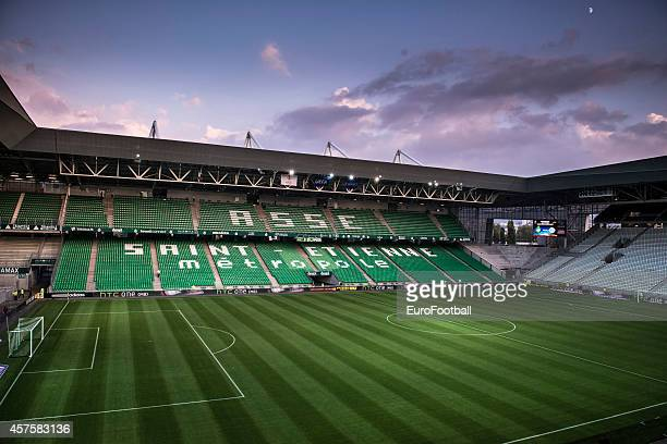 A general view of inside the Geoffroy Guichard Stadium before the UEFA Europa League football match AS SaintEtienne against FC Dnipro Dnipropetrovsk...