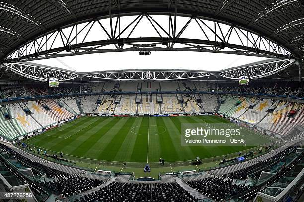 A general view of inside the Juventus Arena before the UEFA Champions League semi final match between Juventus and Real Madrid CF at Juventus Arena...