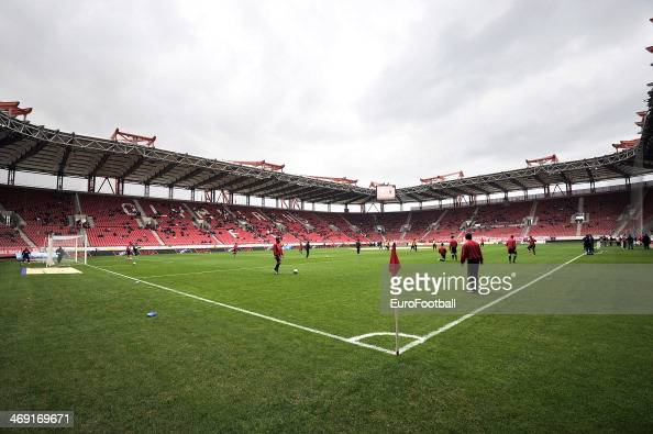 General View of inside the Karaiskaki Stadium before the Greek Superleague match between Olympiacos FC and Panionios GSS at the Karaiskaki Stadium on...