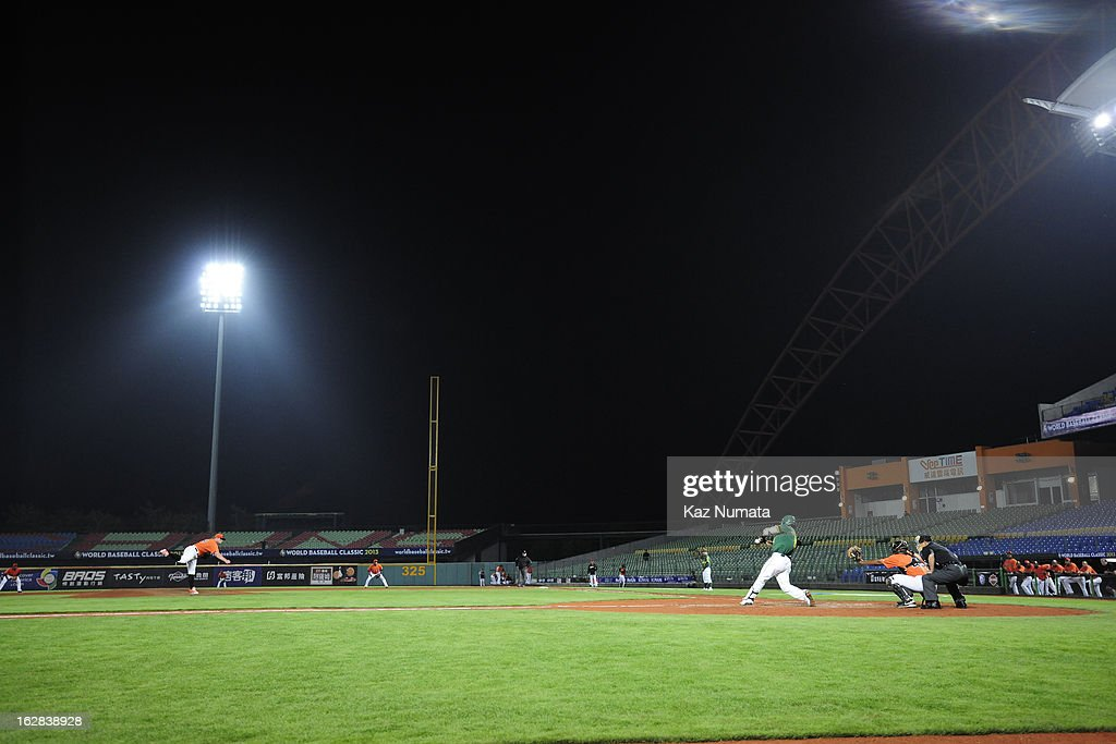 A general view of Intercontinental Stadium during the World Baseball Classic exhibition game between the Industrial All-Star Team and Team Netherlands at Intercontinental Stadium on Tuesday, February 26, 2013 in Taichung, Tawain.