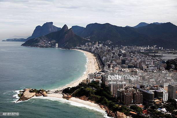 A general view of Ipanema Beach on July 7 2014 in Rio de Janeiro Brazil