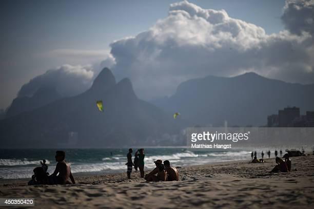 A general view of Ipanema beach on June 9 2014 in Rio de Janeiro Brazil