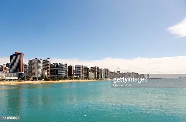 General view of Iracema Beach on July 03 2014 in Fortaleza Brazil Fortaleza is one of the 12 venues of the 2014 FIFA World Cup Brazil