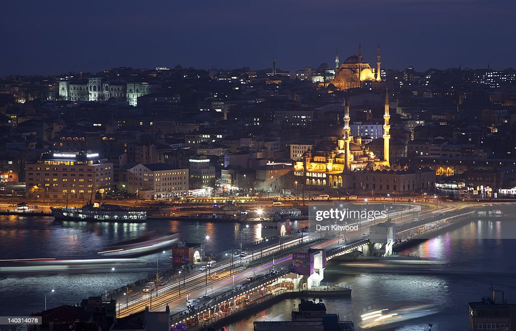 A general view of Istanbul from the Galalta Tower on February 20 2012 in Istanbul Turkey Though not the capital Istanbul is the cultural economic and...