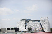 General view of Italy pavilion during the Milano EXPO 2015 at Fiera Milano Rho on May 2 2015 in Milan Italy