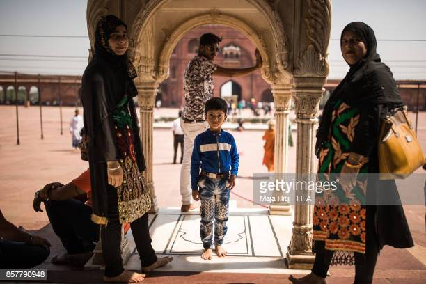 General view of 'Jama Masjid' ahead of the FIFA U17 World Cup India 2017 tournament at on October 5 2017 in New Delhi India