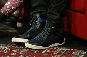 A general view of Jamie Foxx's shoes during 106 Park at BET studio on December 11 2014 in New York City