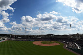 General view of JetBlue Park at Fenway South during a spring training game between the Boston Red Sox and the New York Mets on March 16 2015 in Fort...