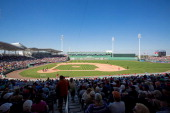 A general view of JetBlue Park during a game between the Minnesota Twins and Boston Red Soxe during a spring training game on February 28 2014 in...