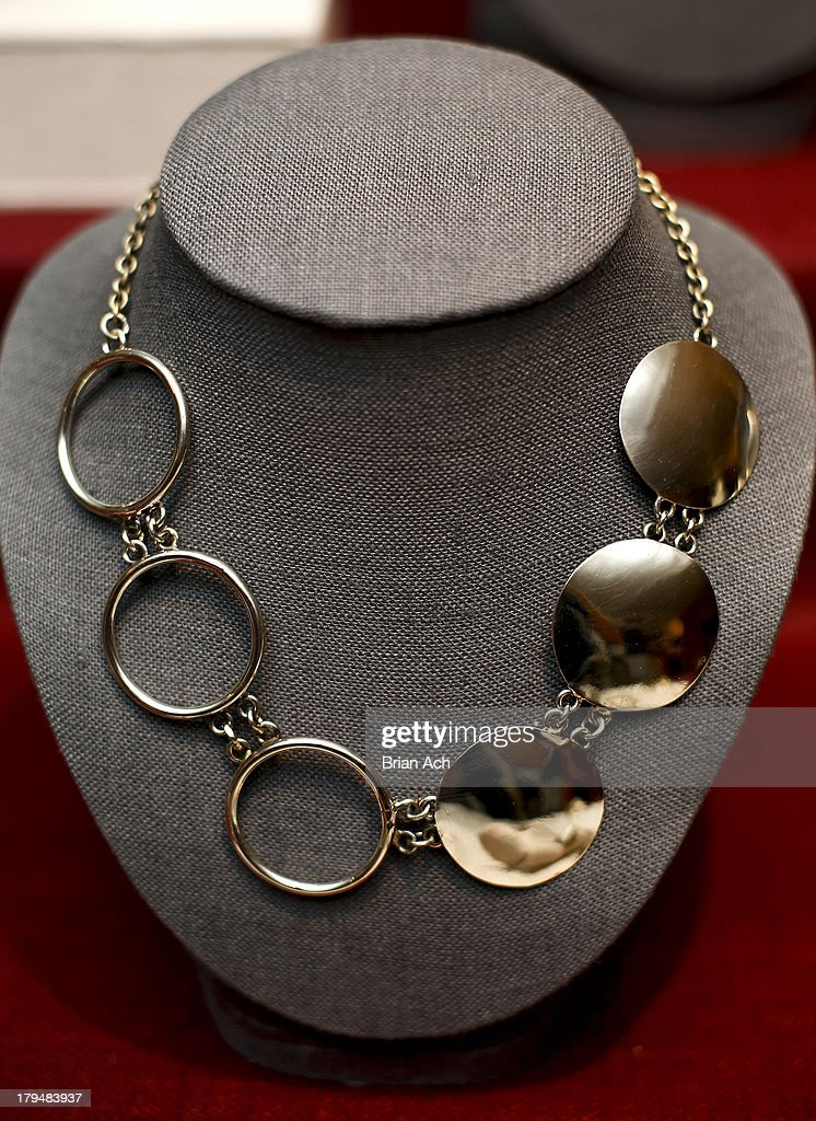 A general view of jewelry and accessories on display at the Anndra Neen presentation during Mercedes-Benz Fashion Week Spring 2014 at the Anndra Neen Atelier on September 4, 2013 in New York City.