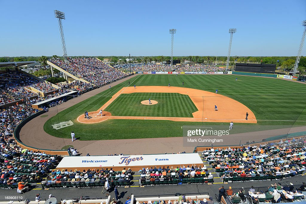 A general view of Joker Marchant Stadium during the spring training game between the Detroit Tigers and the Toronto Blue Jays at Joker Marchant Stadium on March 15, 2013 in Lakeland, Florida. The Tigers defeated the Blue Jays 4-2.