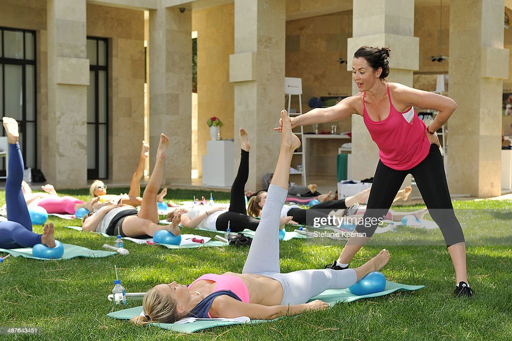 A general view of <a gi-track='captionPersonalityLinkClicked' href=/galleries/search?phrase=Kate+Hudson&family=editorial&specificpeople=156407 ng-click='$event.stopPropagation()'>Kate Hudson</a> and guests celebrating the Fabletics Spring Collection on May 1, 2014 in Los Angeles, California.