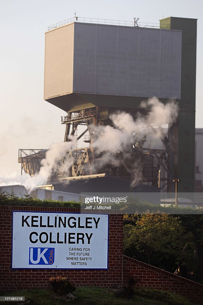 A general view of Kellingly Colliery where last night two men became trapped in the pit following a roof fall on September 28, 2011 in Knottingley near Pontefract, England. Police and mine safety specialists have begun an investigation at the colliery where a miner died after being trapped by falling debris from a roof collapse.