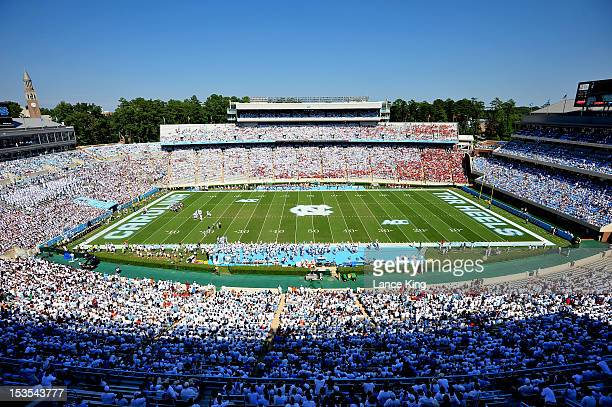 A general view of Kenan Stadium during a game between the Virginia Tech Hokies and the North Carolina Tar Heels on October 6 2012 in Chapel Hill...