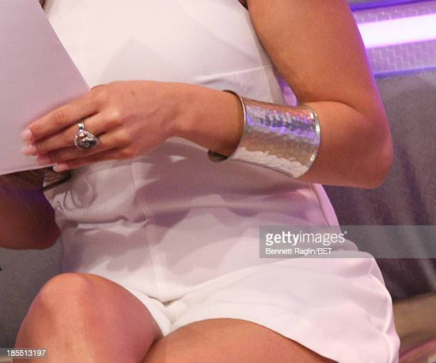 A general view of Keshia's bracelets during 106 Park at 106 Park studio on October 21 2013 in New York City