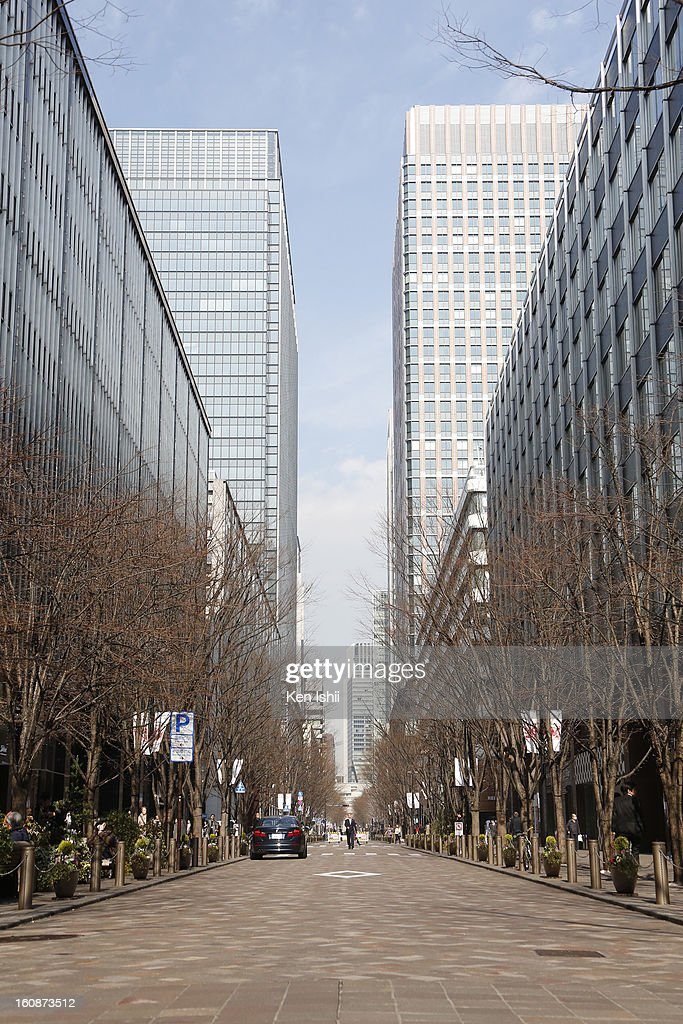General view of Keyaki dori shopping street in Marunouchi business district on February 7, 2013 in Tokyo, Japan. A recent servey shows Tokyo as the most expensive city in the world and Osaka ranked second.
