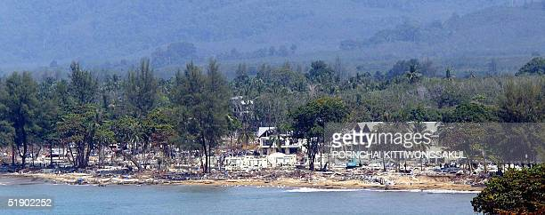 A general view of Khao Lak beach with its Sofitel Magic Lagoon resort in Phang Nga province 30 December 2004 The final death toll from Thailand's...
