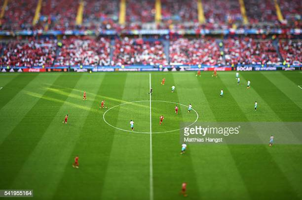 A general view of kick off during the UEFA EURO 2016 Group D match between Czech Republic and Turkey at Stade BollaertDelelis on June 21 2016 in Lens...