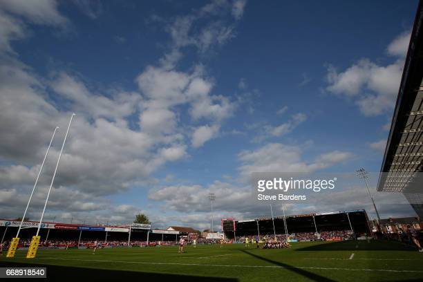 General view of Kingsholm Stadium during the Aviva Premiership match between Gloucester Rugby and Sale Sharks at Kingsholm Stadium on April 15 2017...