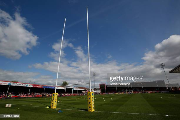 General view of Kingsholm Stadium prior to the Aviva Premiership match between Gloucester Rugby and Sale Sharks at Kingsholm Stadium on April 15 2017...