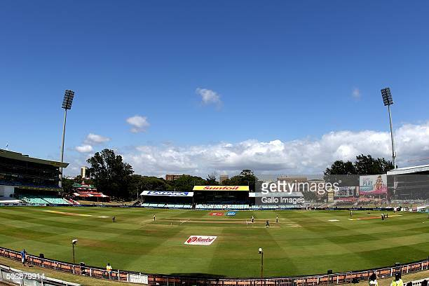 General view of Kingsmead during the day 5 of the 1st test match between South Africa and England at Sahara Stadium Kingsmead on December 30 2015 in...