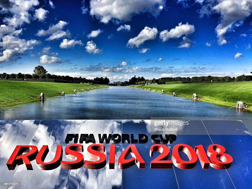 A general view of Konstantin Palace gardens ahead of the preliminary draw of the 2018 FIFA World Cup in Russia at Konstantin Palace on July 24 2015...
