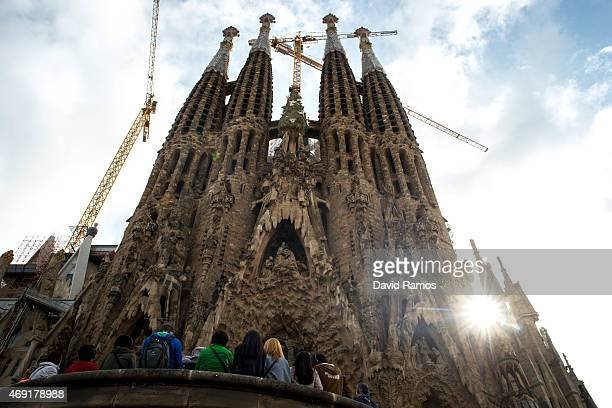 A general view of 'La Sagrada Familia' on April 10 2015 in Barcelona Spain Barcelona's city hall has put a regulation in motion that bans large...