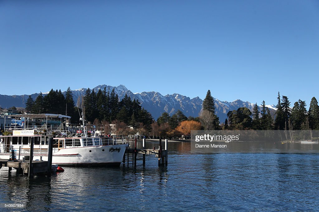 A general view of Lake Wakatipu during the Downtown Day Drag race at the Queenstown Winter Festival on June 29, 2016 in Queenstown, New Zealand.