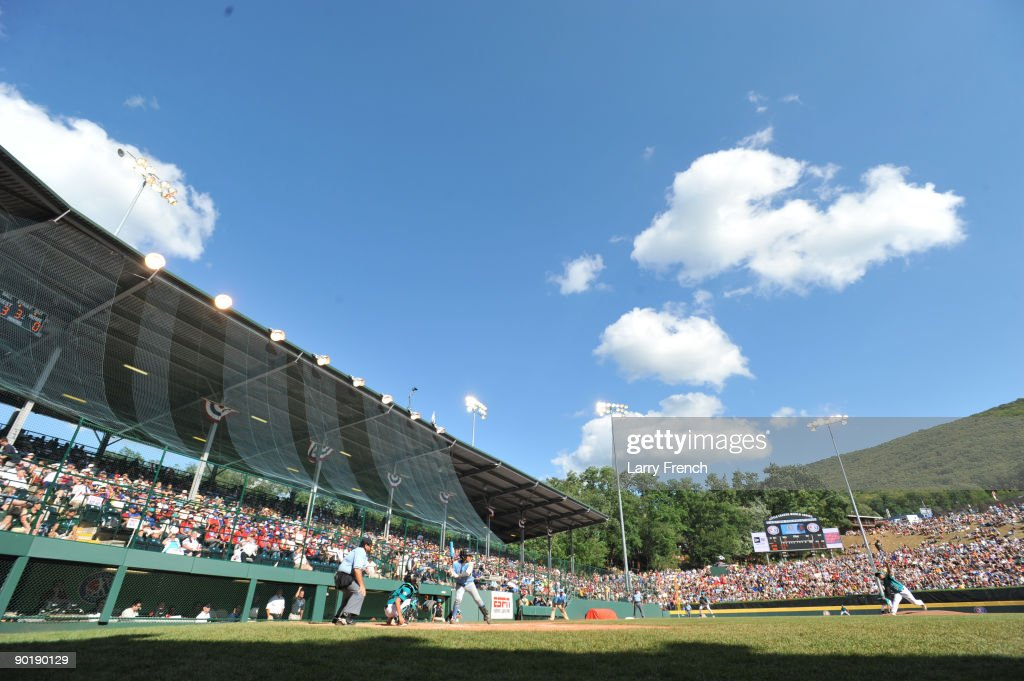General view of Lamade Stadium during the game between California (Chula Vista) and Asia Pacific (Taoyuan, Taiwan) in the little league world series final at Lamade Stadium on August 30, 2009 in Williamsport, Pennsylvania.