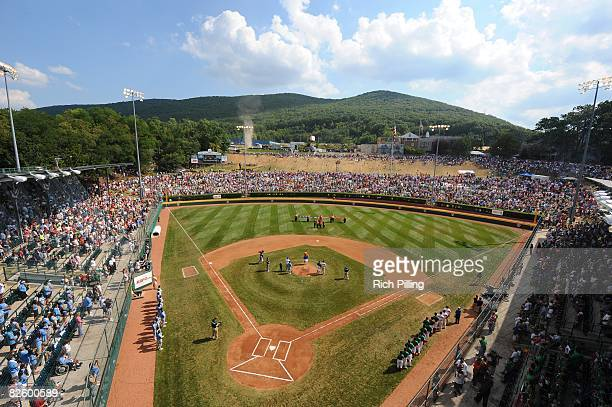 A general view of Lamade Stadium during the game between the Waipio Little League team from Waipio Hawaii and the Matamoros Little League team from...