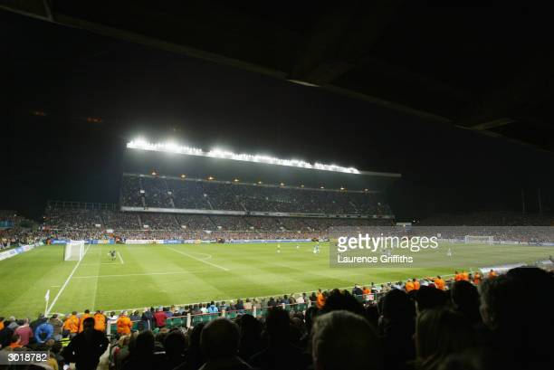 General view of Lansdowne Road taken during the International Friendly match between Republic of Ireland and Brazil held on February 18 2004 at...