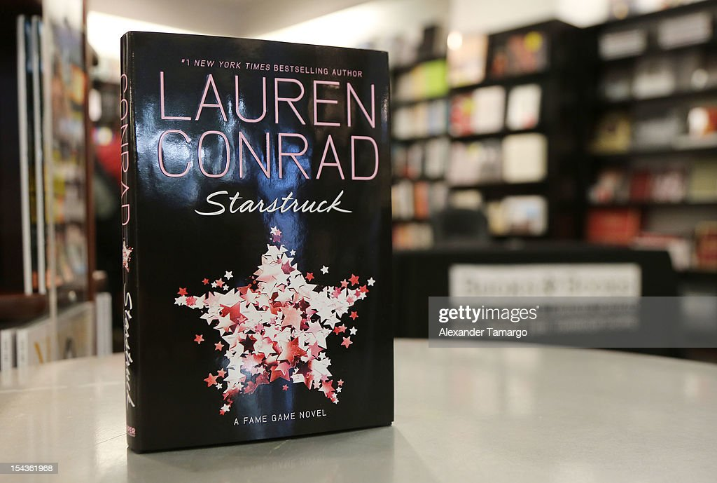 General view of Lauren Conrad's books 'Beauty' and 'Starstruck' at Books and Books on October 18, 2012 in Miami Beach, Florida.