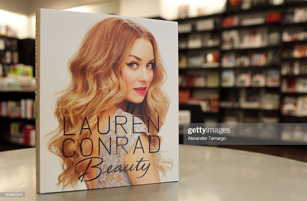 General view of <a gi-track='captionPersonalityLinkClicked' href=/galleries/search?phrase=Lauren+Conrad&family=editorial&specificpeople=537620 ng-click='$event.stopPropagation()'>Lauren Conrad</a>'s books 'Beauty' and 'Starstruck' at Books and Books on October 18, 2012 in Miami Beach, Florida.