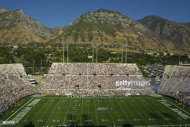 General View of LaVelle Edwards Stadium and the 49008 in attendance for the Black Coaches Association Classic between Tulane and BYU during the game...