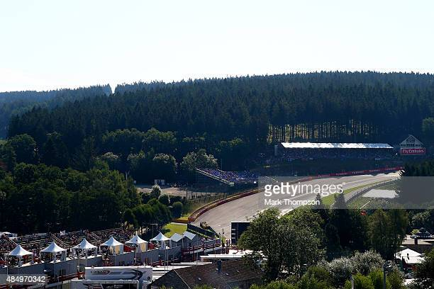 A general view of l'Eau Rouge before the Formula One Grand Prix of Belgium at Circuit de SpaFrancorchamps on August 23 2015 in Spa Belgium
