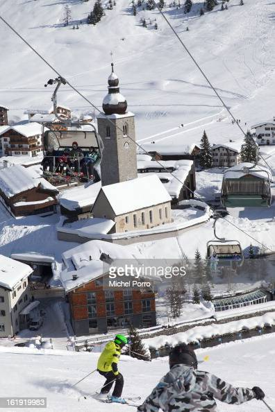 General view of Lech the usual holiday resort of Queen Beatrix of The Netherlands and members of the Dutch royal family on February 17 2013 in Lech...