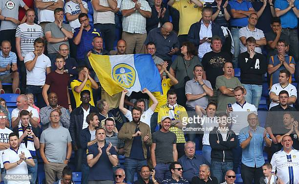 General view of Leeds United fans during the Sky Bet Football League Championship between Reading and Leeds United at Madejski Stadium on August 16...