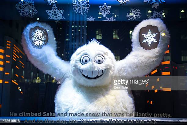 A general view of legendary yeti at the Saks Fifth Avenue seasonal Holiday windows on December 11 2013 in New York City
