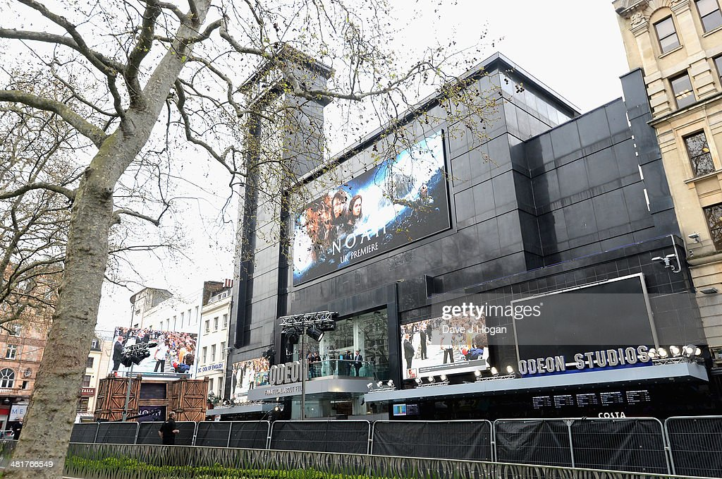 A general view of Leicester Square ahead of the UK Premiere of 'Noah' held at the Odeon Leicester Square on March 31 2014 in London England