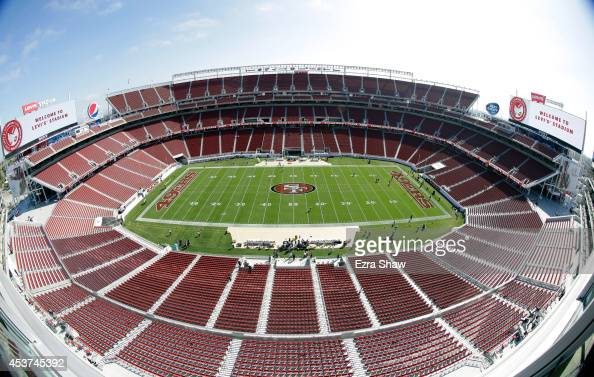 A general view of Levi's Stadium before the San Francisco 49ers preseason game against the Denver Broncos on August 17 2014 in Santa Clara California