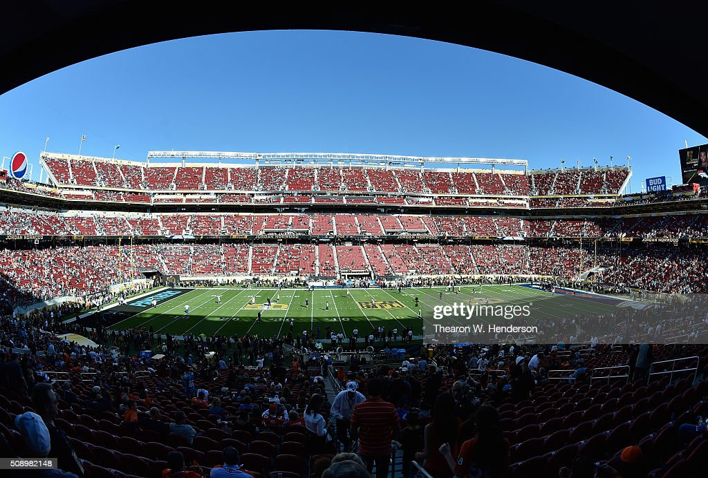 A general view of Levi's Stadium prior to Super Bowl 50 on February 7, 2016 in Santa Clara, California.