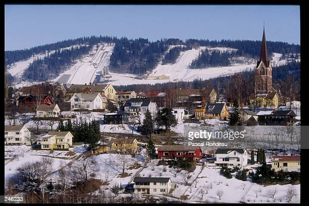 General view of Lillehammer Norway home of the Olympic Games Mandatory Credit Pascal Rondeau /Allsport