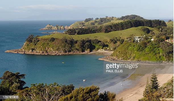 A general view of Little Palm Beach on Waiheke Island in New Zealand is seen in this photograph taken on October 20 2011 AFP PHOTO/PAUL ELLIS