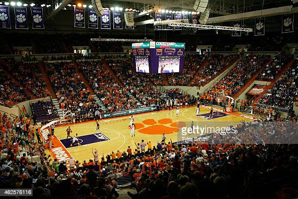 A general view of Littlejohn Coliseum during the game between the Clemson Tigers and Boston College Eagles on January 31 2015 in Clemson South...
