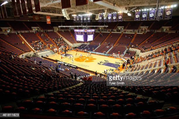 A general view of Littlejohn Coliseum prior to the game between the Clemson Tigers and Duke Blue Devils on January 11 2014 in Clemson South Carolina